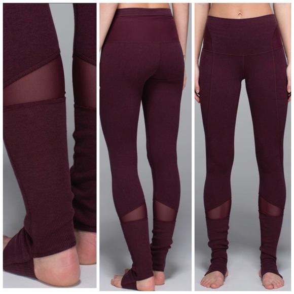 lululemon athletica Pants - Lululemon Devi Yoga Pant Heathered Bordeaux 2e52432ff08ce